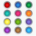 Vector glossy buttons collection of colorful luminous Stock Image