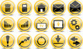 Vector glossy icon set Royalty Free Stock Photo
