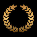 Vector gold award wreaths, laurel on black background. Vector