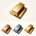 Vector gold bars illustration of Stock Photography