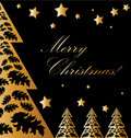 Vector Gold and black xmas card Royalty Free Stock Photo
