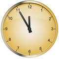 Vector gold clock Royalty Free Stock Photos