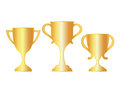 Vector gold cup icons Royalty Free Stock Image