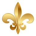 Vector gold fleur de lis ornament Stock Photos