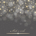 Vector gold glitter particles background effect for luxury greeting rich card. Sparkling texture