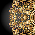 Vector gold ornament illustration with vintage floral Royalty Free Stock Image