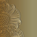 Vector gold ornament illustration with vintage and place for text Royalty Free Stock Photography