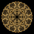 Vector gold ornament vintage pattern for print embroidery Stock Photos