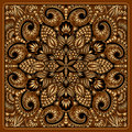 Vector gold ornament vintage pattern for print embroidery you can use this pattern for carpet shawl pillow cushion Royalty Free Stock Photography