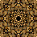 Vector gold ornament vintage pattern for print embroidery you can use this pattern for carpet shawl pillow cushion Stock Photography