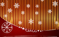 Vector gold-red striped christmas background Royalty Free Stock Photo
