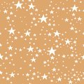 Vector gold and white star seamless repeat pattern background