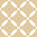 Vector golden abstract seamless pattern with curved shapes. Damask ornament