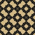 Vector golden floral seamless pattern. Black and gold luxury abstract ornament