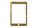 Vector golden glitter flat tablet computer icon