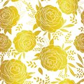 Vector golden lace roses seamless repeat pattern background. Great for wedding or bridal shower decor, invitations