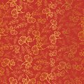 Vector golden and orange leaves texture seamless repeat pattern background. Great for fall fabric, wallpaper, giftwrap Royalty Free Stock Photo