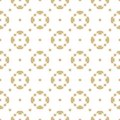 Vector golden seamless pattern in oriental style. White and gold ornament. Geometric shapes in diagonal grid.