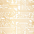 Vector golden technology pattern Royalty Free Stock Photo