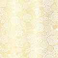 Vector Golden White Abstract Swirls Seamless Pattern Background. Great for elegant gold texture fabric, cards, wedding
