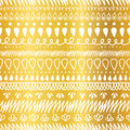 Vector Golden and White Decorative Ikat Stripes Abstract Seamless Repeat Pattern Background. Great for handmade cards