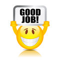Vector good job symbol Stock Images