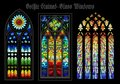 Vector Gothic Stained-Glass Windows