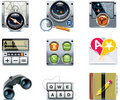 Vector GPS navigation icons. Part 2 Royalty Free Stock Images