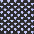 Vector gradient diamond seamless pattern on the dark background
