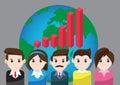 Vector graph business for teamwork success