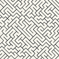 Vector graphic abstract geometry maze pattern. black and white seamless geometric background