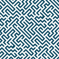 Vector graphic abstract geometry maze pattern. blue seamless geometric labyrinth background