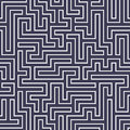 Vector graphic abstract geometry maze pattern. purple seamless geometric labyrinth background