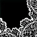 Vector graphic floral background Royalty Free Stock Photo