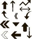 Vector graphic illustration, arrow icon, pointer, cursor