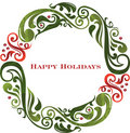 Vector graphic scroll holiday wreath. Royalty Free Stock Photography