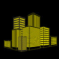 Vector of graphical urban building illustrator eps Royalty Free Stock Photos