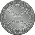 Vector Great Britain trade dollar silver coin Royalty Free Stock Photography