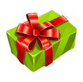 Vector gree gift box isolated Royalty Free Stock Image