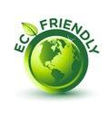 Vektor zelený priateľský štítok
