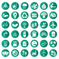 Vector green eco icons set Royalty Free Stock Photo