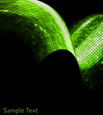 Vector green geometric tech background. EPS10 Stock Images
