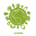Vector green planet eco Royalty Free Stock Image
