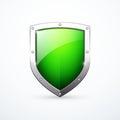 Vector green shield icon