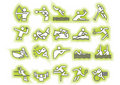 Vector green sports symbols Royalty Free Stock Photo