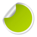 Vector green sticker over white Stock Photos