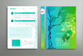 Vector green template: cover, flyer, brochure, book, report busi Royalty Free Stock Photo