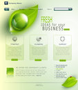Vector green website the web site Royalty Free Stock Photos