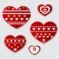 Vector greeting card with hearts for valentines day Royalty Free Stock Photos