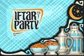 Vector greeting card for Iftar Party